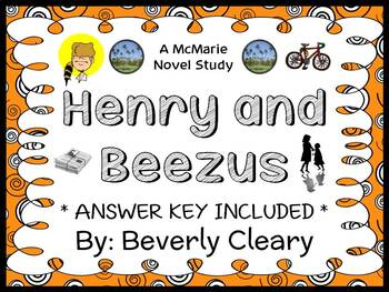 Henry and Beezus (Beverly Cleary) Novel Study / Reading Comprehension Unit
