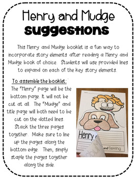 Henry and Mudge Flip Booklet