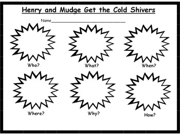 Henry and Mudge Get the Cold Shivers Reader's Response Pack