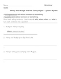 Henry and Mudge Grammar Skills Telling Sentences and Questions 2 Pages
