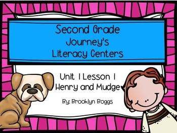Henry and Mudge Journey's Literacy Centers - Second Grade
