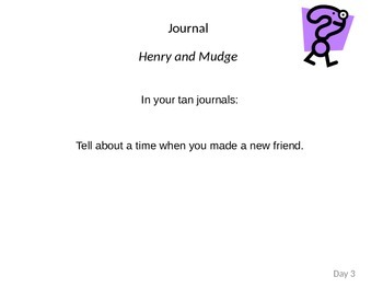 Henry and Mudge: Journeys Unit 1 Lesson 1