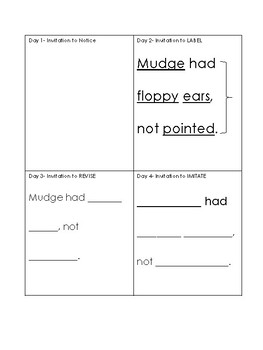Henry and Mudge Mentor Sentence