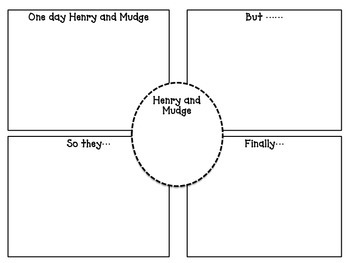 Henry and Mudge Narrative Writing Story Template and Graphic Organizer