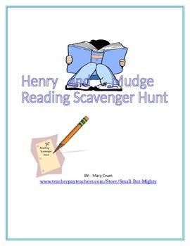 Henry and Mudge Reading Scavenger Hunt