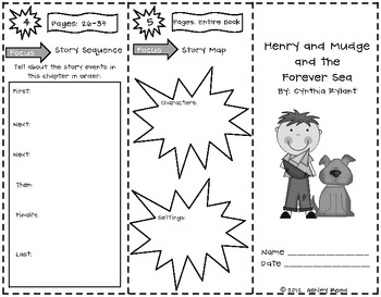 Henry and Mudge Reading Trifolds and Response Sheets (for 20 books)