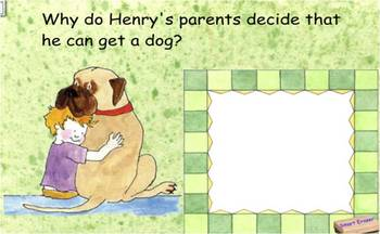 Henry and Mudge SmartBoard Comprehension activity