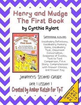 Henry and Mudge Supplemental Activities 2nd Grade Journeys