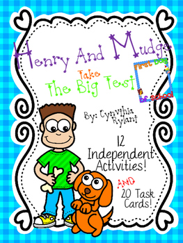 Henry and Mudge Take the Big Test {12 Independent Activities + 20 Task Cards}