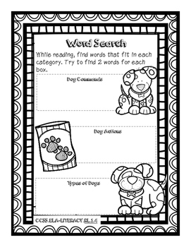 Henry and Mudge Take the Big Test Literacy Packet