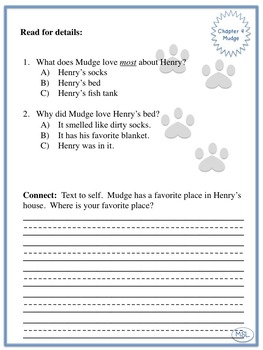 Henry and Mudge The First Book with Seesaw task cards