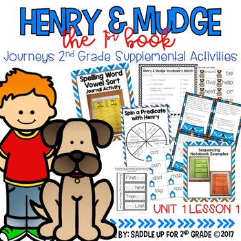 Henry and Mudge: The First Book Journeys 2nd Grade Supplemental Activities