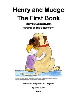 Henry and Mudge The First Book Literature Response / Compr
