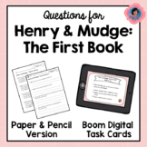 Henry and Mudge: The First Book Question Sets {Boom Cards Now Included!}