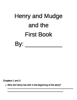 Henry and Mudge- The First Book and the Big Sleepover
