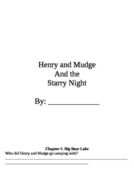 Henry and Mudge- The Starry Night and The Sneaky Crackers