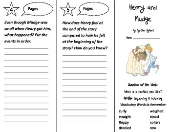 Henry and Mudge Trifold - Journeys 2nd Gr Unit 1 Week 1 (2014, 2017 Common Core)