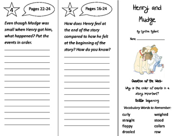Henry and Mudge Trifold - Journeys 2nd Grade Unit 1 Week 1 (2011)