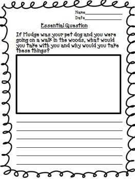 Henry and Mudge Journeys 2nd Grade Unit 1 Lesson 3 Activities & Printables
