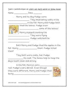 Henry and Mudge Under the Yellow Moon 2nd Grade Journeys Unit 1, Lesson 3 © 2011