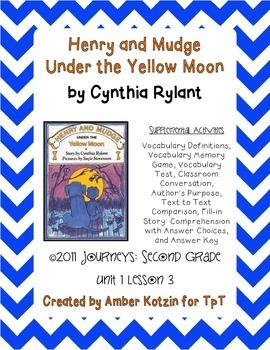 Henry and Mudge Under the Yellow Moon 2nd Grade Journeys U