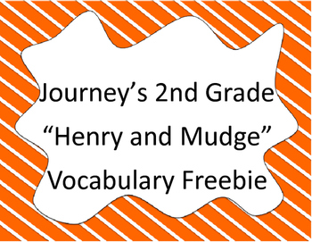 Henry and Mudge Vocabulary