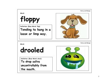 Henry and Mudge Vocabulary Cards