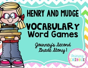 Henry and Mudge Vocabulary Games~Goes along with Journey's Second Grade Story 1