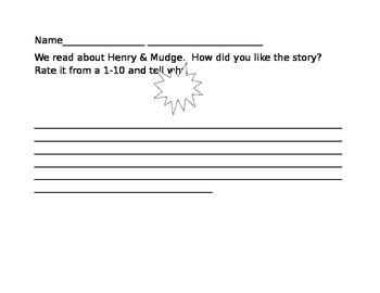 Henry and Mudge Writing