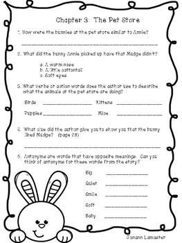 Henry and Mudge and Annie's Perfect Pet Comprehension Packet