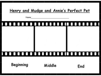 Henry and Mudge and Annie's Perfect Pet Reader's Response Pack