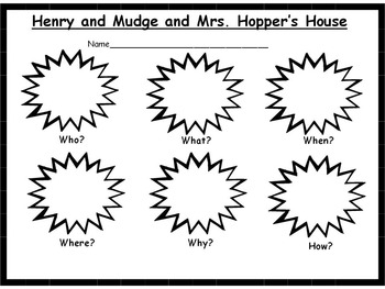 Henry and Mudge and Mrs. Hopper's House Reader's Response Pack