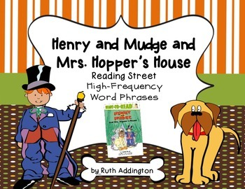 Henry and Mudge and Mrs. Hopper's House Fry Phrases Reading Street