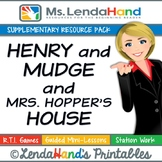 Reading Street, HENRY AND MUDGE AND MRS. HOPPER'S HOUSE,  Pack by Ms. Lendahand