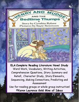 Henry and Mudge and the Bedtime Thumps ELA Novel Reading S