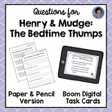 Henry and Mudge and the Bedtime Thumps Text-Based Questions {With Boom Cards!}