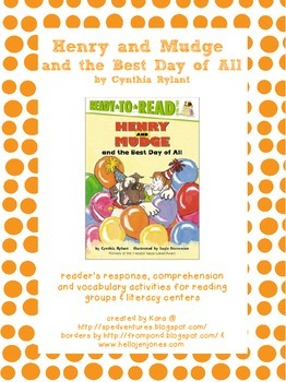Henry and Mudge and the Best Day of All Literature Study Packet