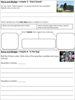 Henry and Mudge and the Big Sleepover Comprehension questions