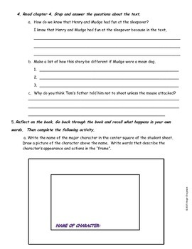 Henry and Mudge and the Big Sleepover- Independent Reading Assessment