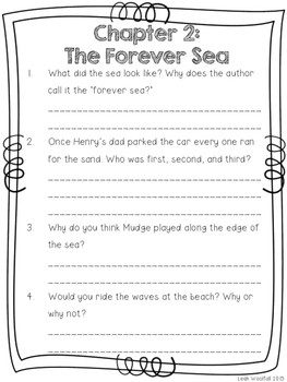 Henry and Mudge and the Forever Sea Comprehension Packet
