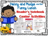 Henry and Mudge and the Funny Lunch - Book Study and Literacy Center Activities