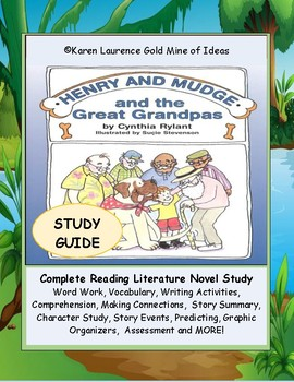 Henry and Mudge and the Great Grandpas ELA Novel Reading PrimaryStudy Guide
