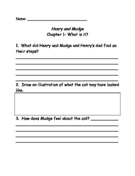 Henry and Mudge and the Happy Cat comprehension questions