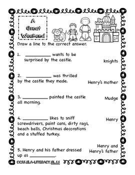 Henry and Mudge and the Long Weekend Literacy Packet