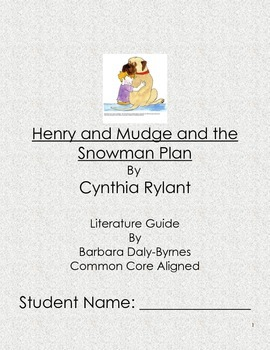 Henry and Mudge and the Snowman Contest Literature Guide
