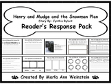 Henry and Mudge and the Snowman Plan Reader's Response Pack