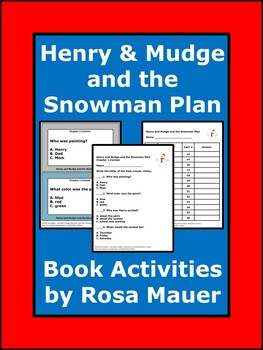 Henry and Mudge and the Snowman Plan Literacy Packet