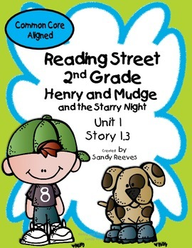 Henry and Mudge Starry Night Reading Street 2nd Grade Common Core Aligned
