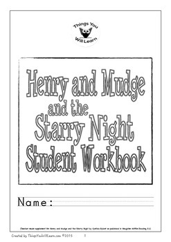 Henry and Mudge and the Starry Night Student Workbook
