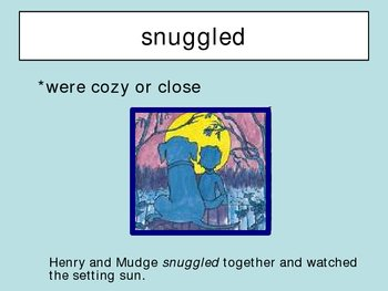 Henry and Mudge and the Starry Night Vocabulary Houghton Mifflin